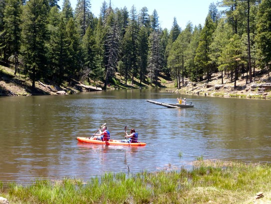 Boats with gas motors are not permitted at Woods Canyon