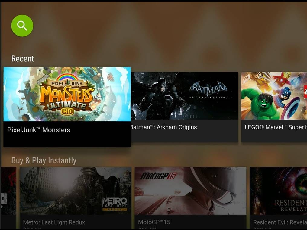 A screen shot from the new GeForce Now cloud gaming service.