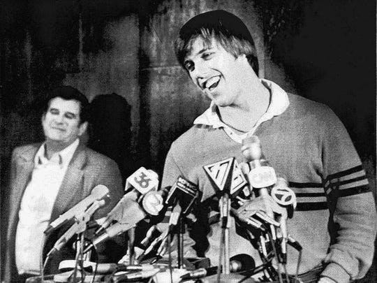 After the 1983 NFL draft, John Elway, with father Jack