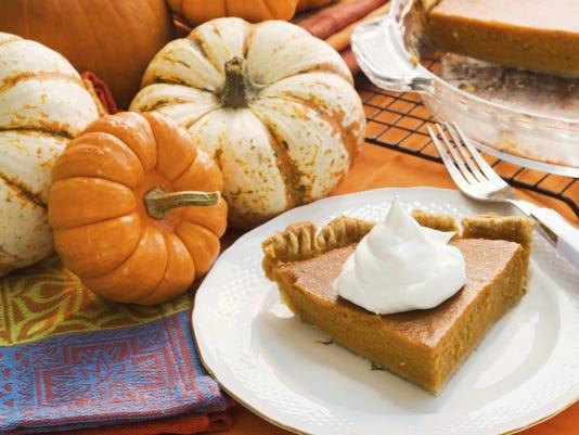 Pie with pumpkins