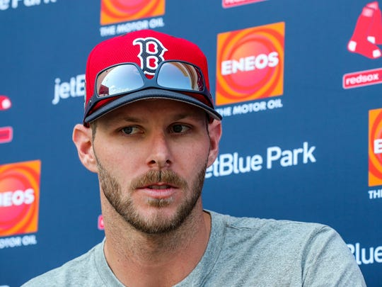 Red Sox pitcher, Chris Sale, took questions at a press