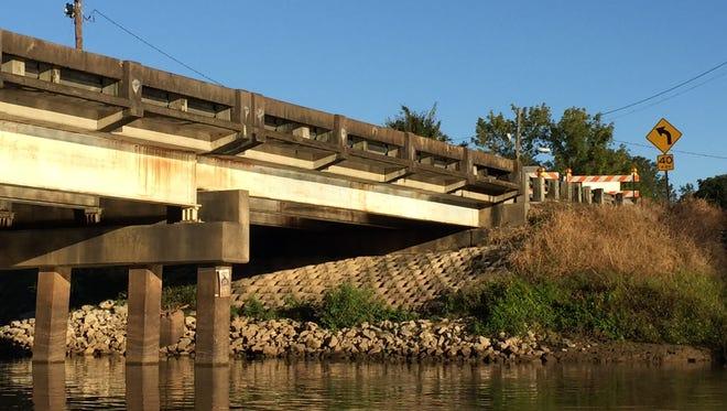 The Surrey Street Bridge in Lafayette is closed indefinitely after deteriorated parts were found on the underside.