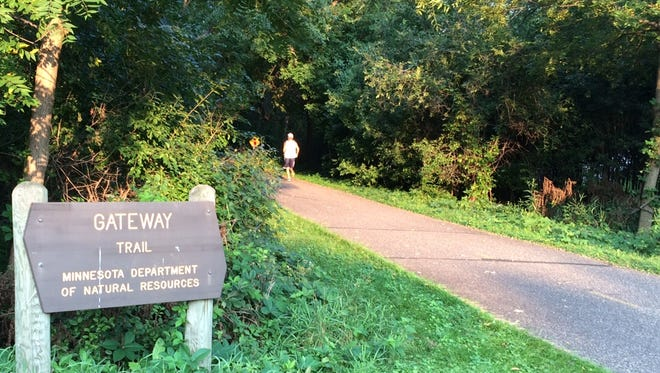 The Gateway Trail runs from St. Paul to Washington County to the north and east.