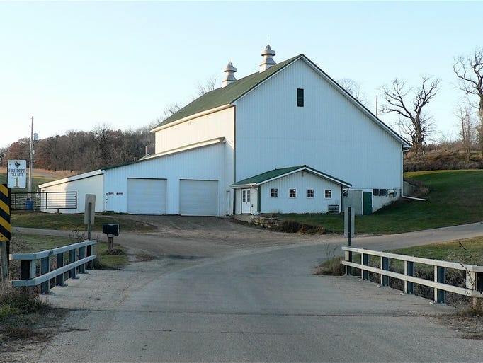 The empty dairy barn today. Note the additions. Hefty