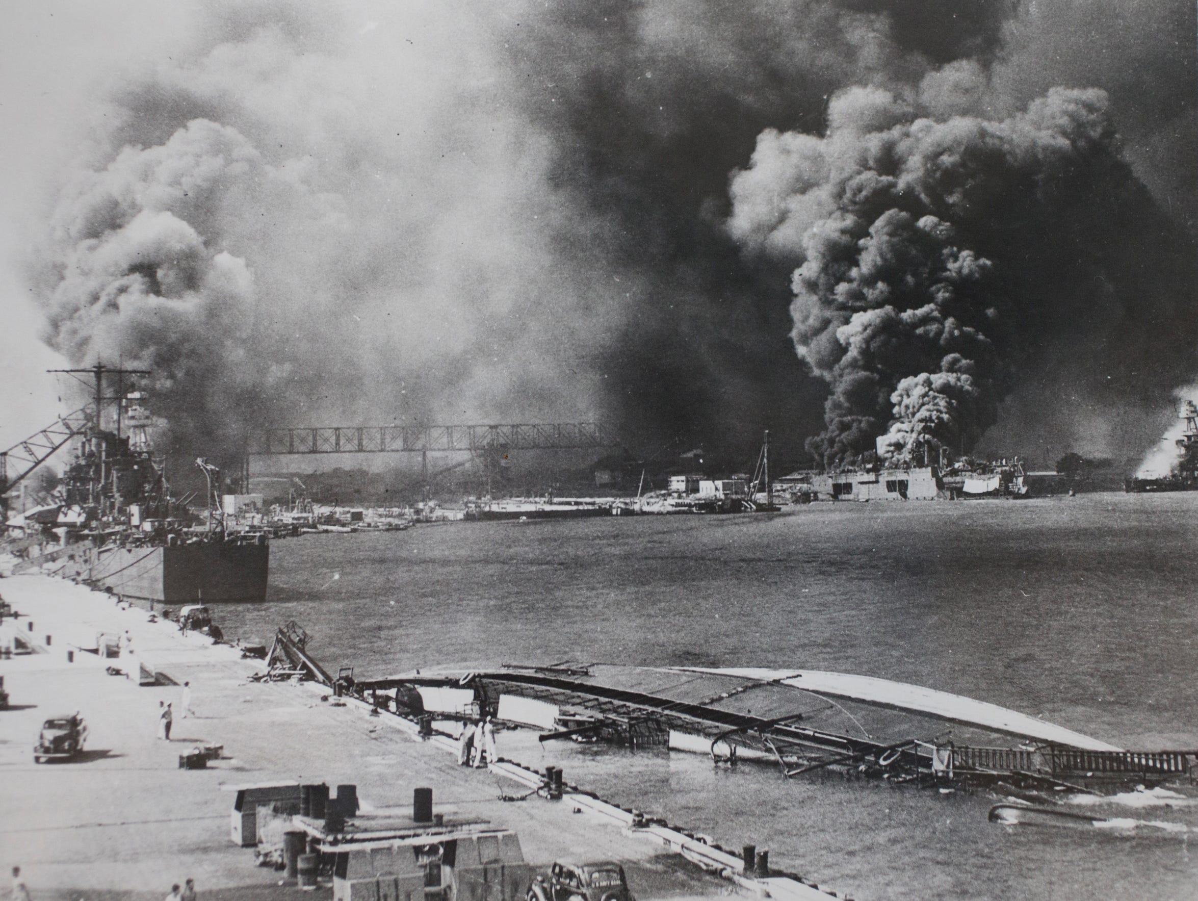 Smoke at Pearl Harbor