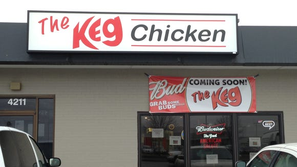 The Keg opens at 11 a.m. Wednesday.
