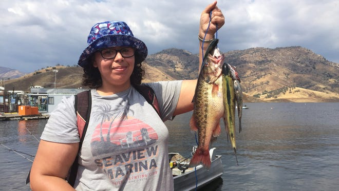 Nijahia Sanchez was thrilled about her catch at Lake Kaweah Saturday afternoon.  The 16-year-old reeled in a tagged trout landing her a $20 cash prize.