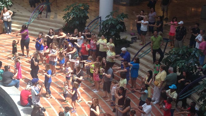 A photo from Sunday's flash mob.