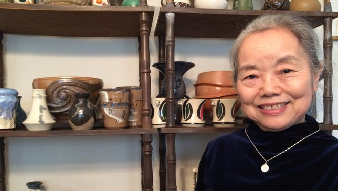 """The work of ceramics master Mikiko Tanaka is included in the """"Creative Tallahassee"""" exhibit at City Hall Art Gallery."""