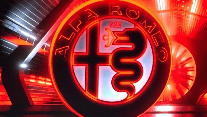 The Alfa Romeo logo as presented in June 2015 in Milan, Italy