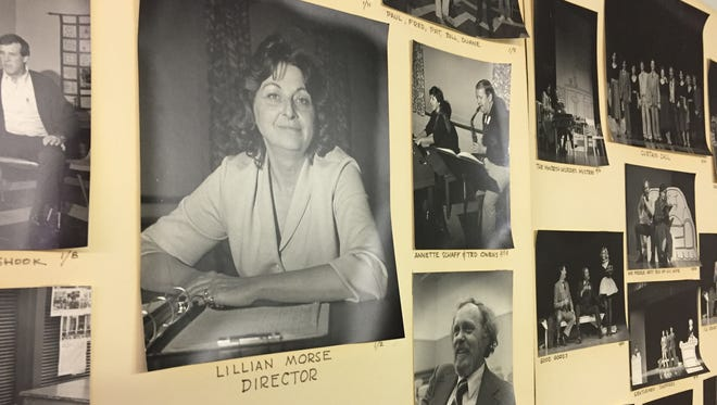"After a long battle with cancer, Lillian Perkins Morse passed away on March 20, 2002. Her dream in life was to one day see the Waynesboro Players perform on stage at the Wayne Theatre. On Feb. 9, that dream will be realized with the opening of ""Almost, Maine."" Morse, pictured here on a wall inside the Waynesboro Players warehouse, was president of Waynesboro Players, the founder of Imagine That! Theatre, president of Wayne Theatre Alliance, on the board of the Virginia Commission for the Arts and the committee that founded Artisans Center of Virginia."