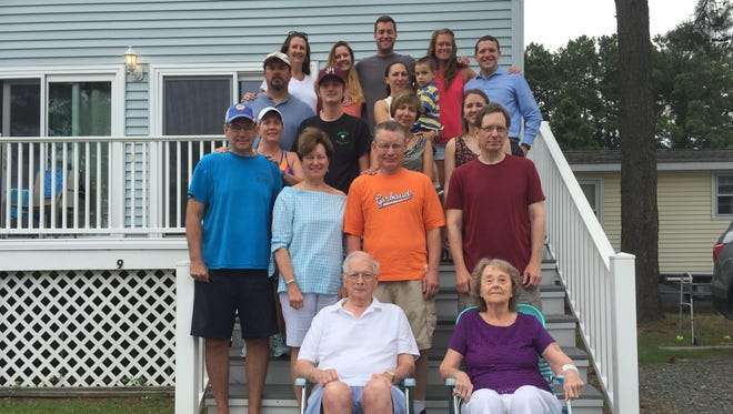 Four generations of the Keller family, from Winchester, Virginia, are vacationing on Chincoteague in July, 2017. Annual summer vacations on Chincoteague are a 60-year family tradition.