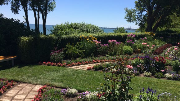 I took a brief respite in West of the Lake Gardens. The property was once the home of John Dunham West, a president of the Manitowoc Shipbuilding Co., and his wife, Ruth St. John West. The gardens they once nurtured are now open to the public.
