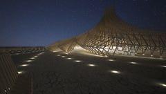 Original 'Man' carpenter, French architect working on 2018 Burning Man Temple together