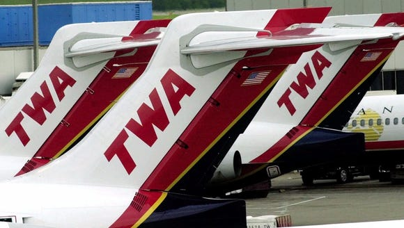 This file photo from June 2000 shows TWA aircraft at