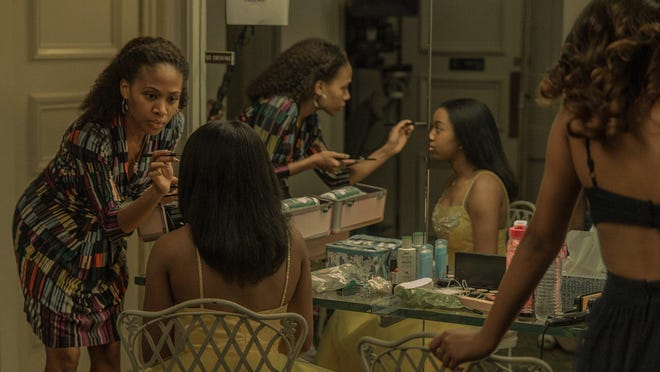"Nicole Beharie, left, as Turquoise and Alexis Chikaeze as Kai in the drama ""Miss Juneteenth"""