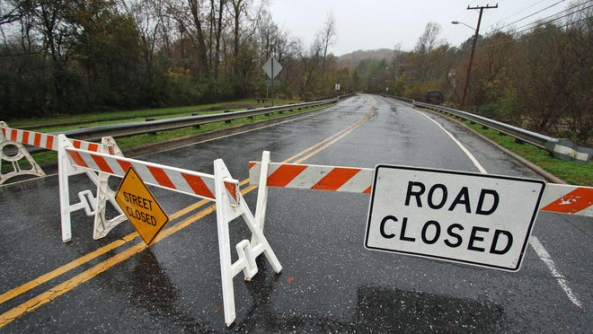 Cramer Mountain Raod was closed at Mayflower Avenue in Cramerton due to high water Thursday morning, Nov. 12, 2020.
