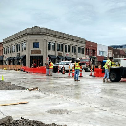 Old Woodward work more than 60 percent complete, on schedule to wrap by early August