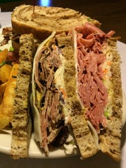 The Piled High corned beef sandwich from Clancey's.