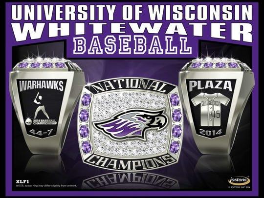UW-Whitewater 2014 baseball championship ring