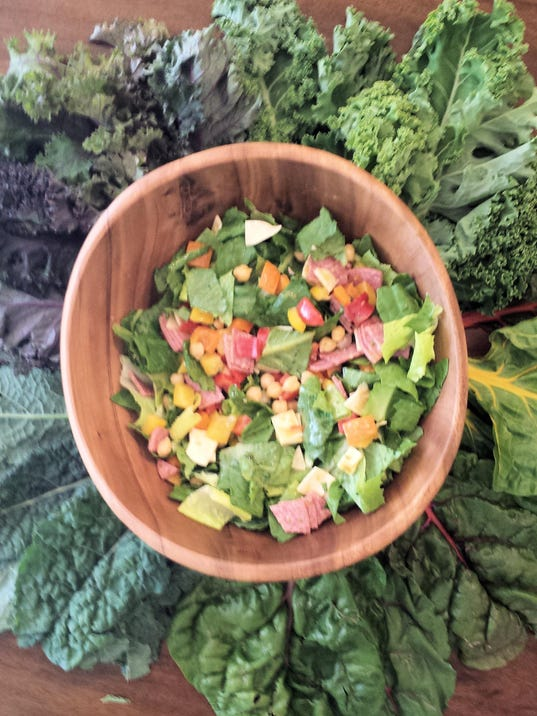salad surrounded by greens