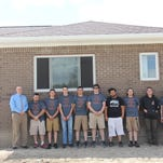 Tech center students build another home