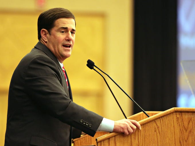 Gov. Doug Ducey offered three specifics on the campaign