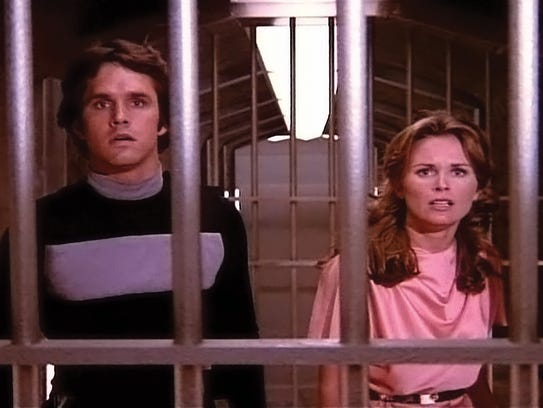 Gregory Harrison and Heather Menzies in a scene from