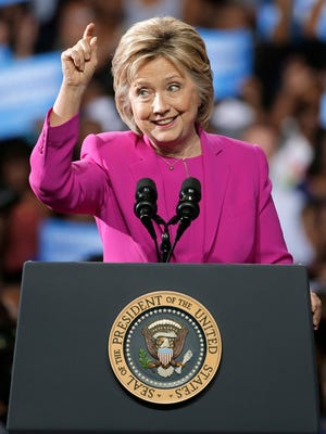 Democratic presidential candidate Hillary Clinton speaks at a campaign rally in Charlotte, N.C., Tuesday, July 5, 2016. She campaigned the same day the FBI announced its findings into her email practices.