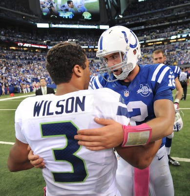 NFL Daily Blitz: Russell Wilson vs. Andrew Luck in SB50?