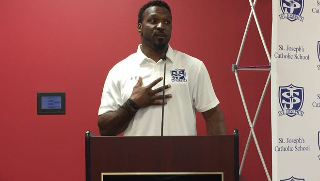 Former Riverside High and University of South Carolina star Brandon Bennett is hoping both the players and students at St. Joseph's get excited about the football program.