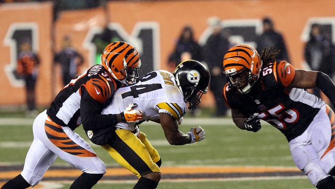 Steelers WR Antonio Brown was injured on this play in the wild-card round.