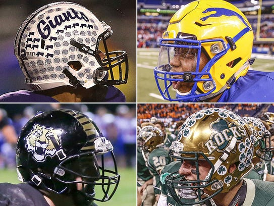Which Indy-area football team has the best helmets?