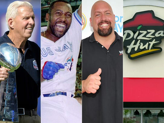 L to R: Bill Parcells, Joe Carter, The Big Show and