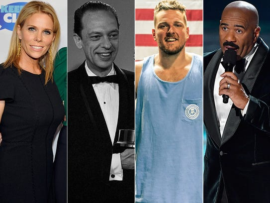 L to R: Cheryl Hines, Don Knotts, Pat McAfee and Steve