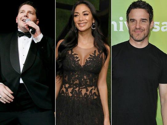 L to R: Brad Sherwood, Nichole Scherzinger and Eddie