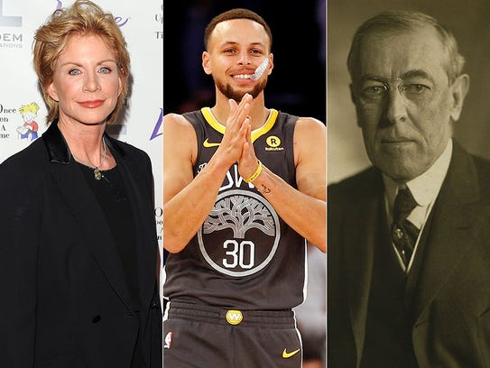 L to R: Patricia Cronwell, Stephen Curry and Woodrow
