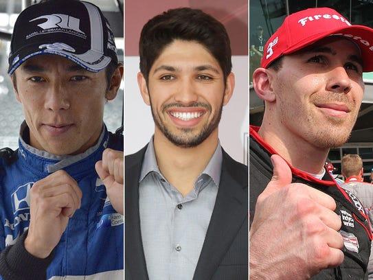 Takuma Sato, Kyle Kaiser, Robert Wickens. Row 6 for