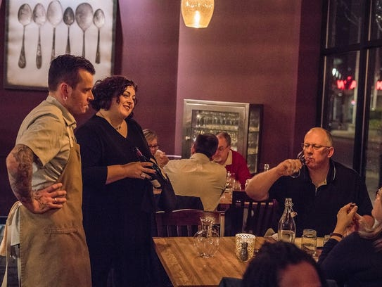 Cristina and Jason make guests feel welcome at Tofte's