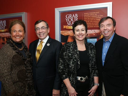 Jane Saltonstall, Mayor Rob Moon, Sandra Lyon and Mark Gauthier