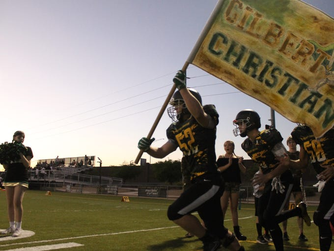 Gilbert Christian takes the field against Phoenix Christian