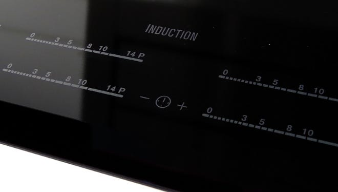 An induction oven control panel.