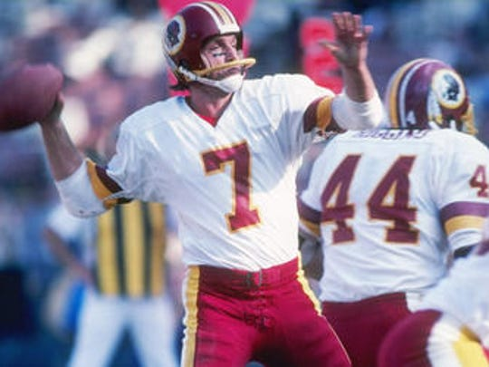 Joe Theismann led the Redskins to victory in Super