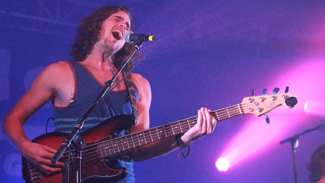 Kongos vocalist-bassist Dylan Kongos performed in September at Middle Tenneessee State University's Student Union Ballroom.