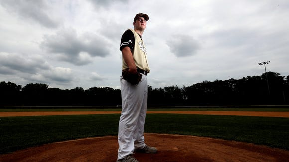 Clarkstown South senior Kieran Finnegan is the Rockland baseball player of the year. He was photographed June 23, 2018.