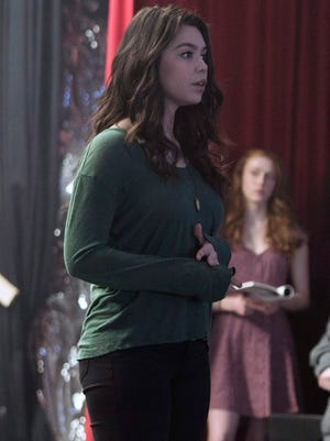 "Lilette Suarez (Auli'i Cravalho) overcomes her shyness to audition in this still from the pilot of ""Rise,"" a new show premiering on NBC on March 13."