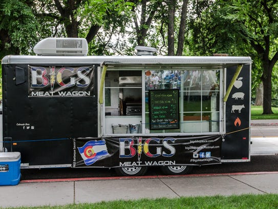 Bigs Meat Wagon was one of the few food trucks parked