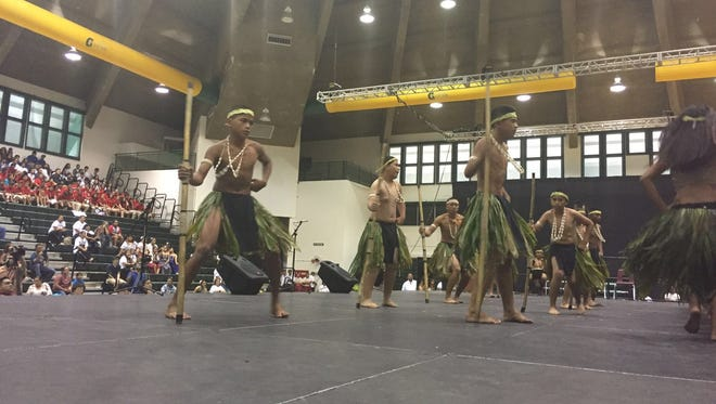 Students from Admiral H.G. Hopwood Junior High School in Saipan perform at the University of Guam in this March 8, 2016, file photo.
