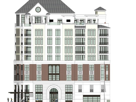 A concept drawing of The Place on First shows the combination of condos, offices and retail in one building planned for the southeast corner of First and Jackson Streets in the downtown Fort Myers redevelopment area that's being hailed as the first new non-riverfront development in over 20 years.