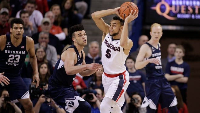Gonzaga guard Nigel Williams-Goss and the Bulldogs took their first loss of the season Saturday against BYU.